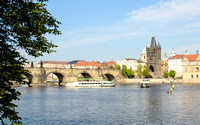 Charles Bridge from River Bank
