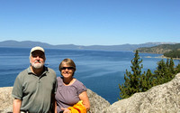 Sandy and Eric Overlooking Lake Tahoe