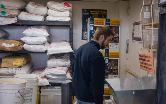 Alex at the Brewstore