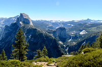 Half Dome and Nevada Falls from Glacier Point